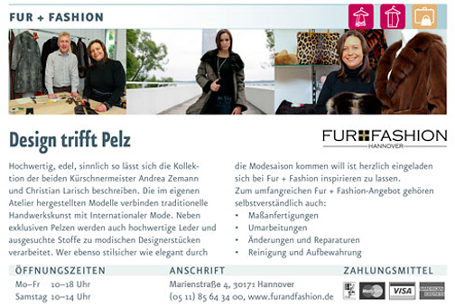 Bild 1 Fur + Fashion Hannover, Larisch & Zemann GmbH