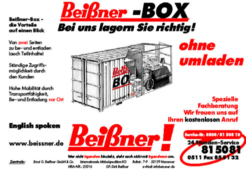 Bild 2 Bei�ner GmbH & Co. Internationale M�belspedition KG, Ernst G. in Hannover