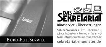 Bild 1 Das Sekretariat in M�nster