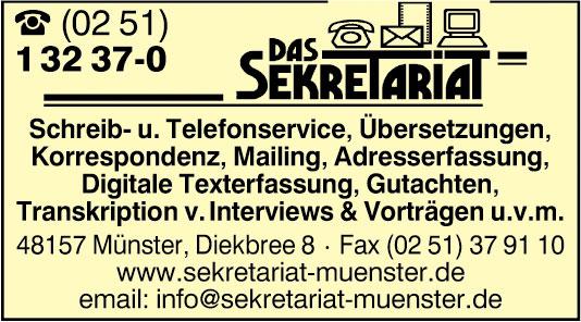 Bild 2 Das Sekretariat in M�nster