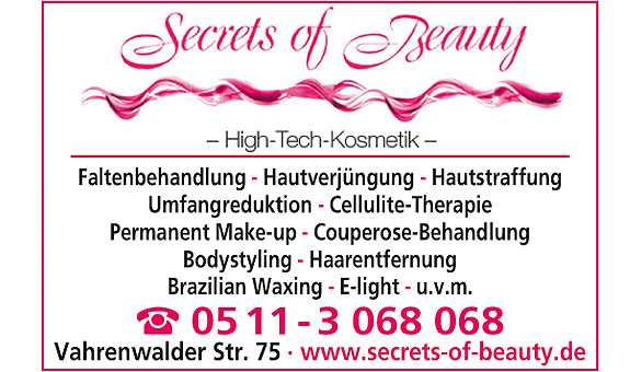 Bild 1 Secrets of Beauty in Hannover