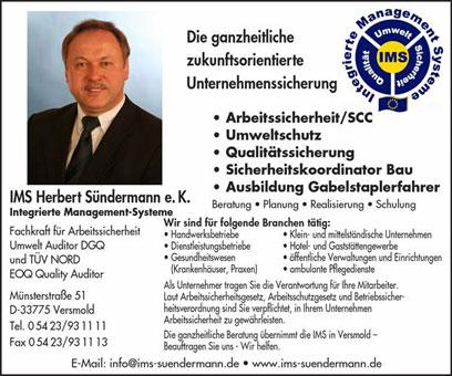 Bild 2 IMS Herbert S�ndermann e.K. in Versmold
