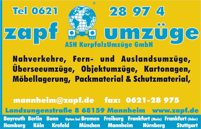 Bild 1 ASH Kurpfalz Umz�ge GmbH Zapf Umz�ge Mannheim in Heidelberg