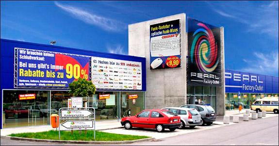 Pearl factory outlet fabrikverkauf in auggen mit adresse for Kare fabrikverkauf factory outlet