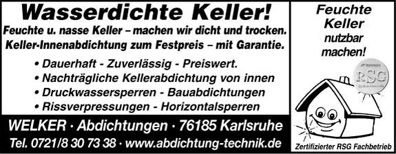 Bild 1 Abdichtung Welker in Karlsruhe