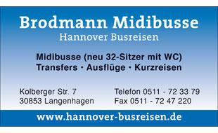 Brodmann Midibusse Hannover Busreisen UG Busreisen UG