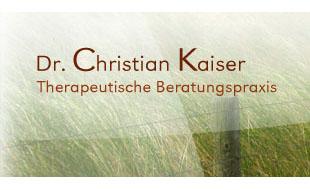 Dr. rer. nat. Kaiser Therapeutische Beratungspraxis