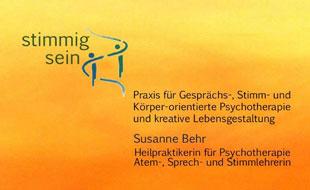 Praxis stimmig sein, Susanne Behr