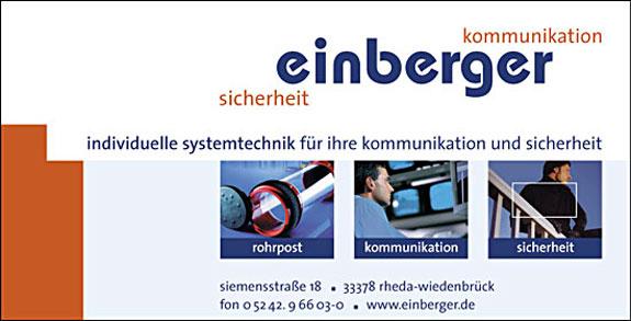 Bild 1 Einberger GmbH in Rheda-Wiedenbrück