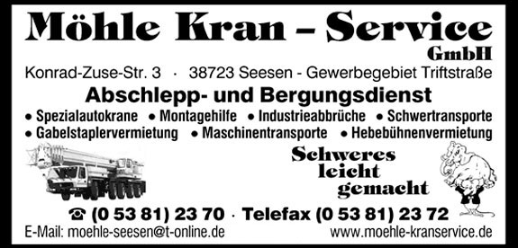 Bild 1 Möhle Kranservice GmbH in Seesen