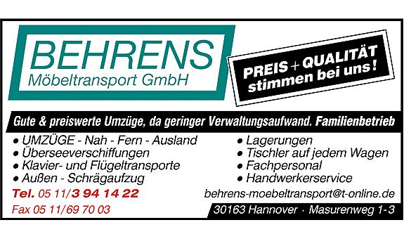 Bild 1 Behrens Möbeltransport GmbH in Hannover