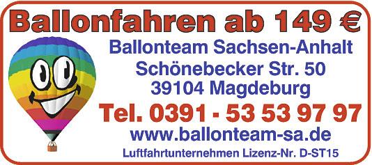 Bild 1 Ballonfahrten in Magdeburg