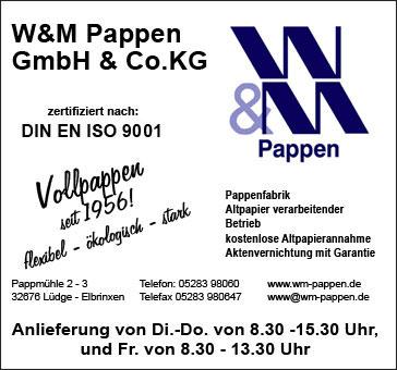 Bild 1 W & M Pappen GmbH & Co. KG in Lügde