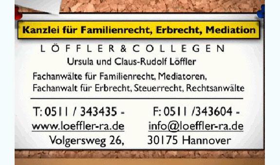Bild 1 Löffler Ursula & Collegen, Kanzlei für Familienrecht, Erbrecht und Mediation in Hannover