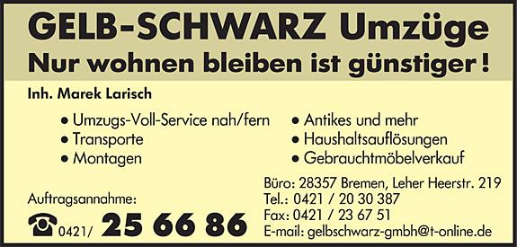Gelb-Schwarz Umzüge