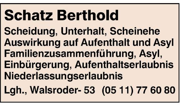 Rechtsanwalt Schatz