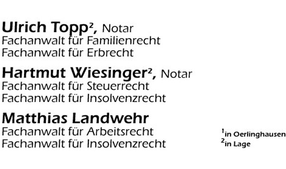 Hose, Dr. Rodekamp, Partner