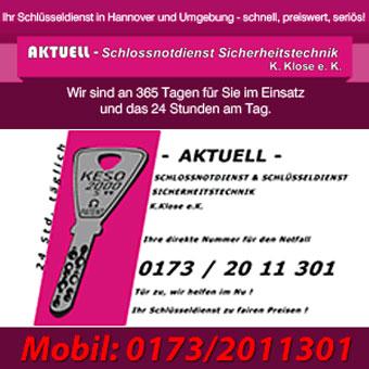 K Che Aktuell Hannover aktuell schloßnotdienst sicherheitstechnik k klose e k in hannover misburg nord mit adresse