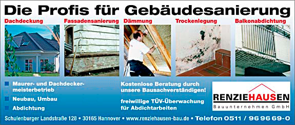Bild 1 Bauunternehmen Renziehausen Hannover GmbH in Hannover