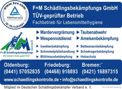 Bild 1 F+M Schädlingsbekämpfungs GmbH in Oldenburg