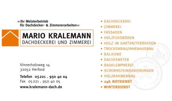 Dachdeckerei Zimmerei Mario Kralemann