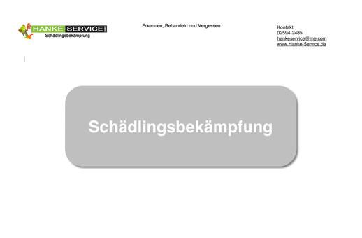 Bild 2 Hanke - Service Schädlingsbekämpfung Holz- u. Bautenschutz GmbH in Dülmen