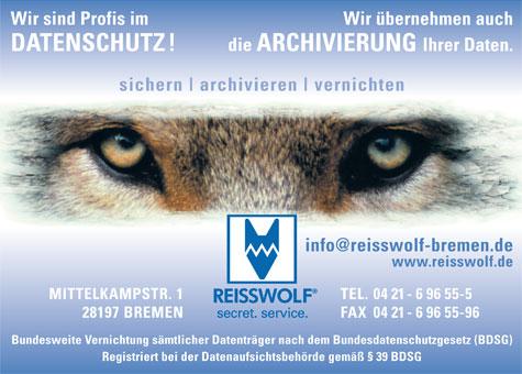 Bild 1 Reisswolf Akten- u.Datenvernichtung GmbH in Bremen