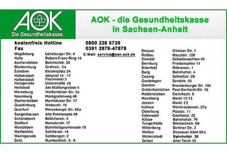 Aok Magdeburg Adresse