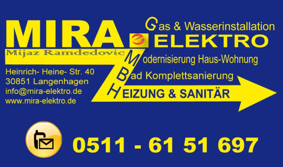 Logo von MIRA ELEKTRO-Heizung & Sanitär GmbH, Mijaz Ramdedovic