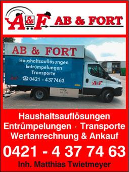 Bild 1 AB & FORT Haushaltsauflösungen in Bremen