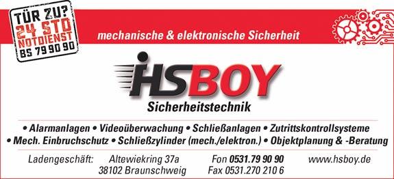 HSBOY Sicherheitstechnik - René Hyss & Roman Schubert GbR