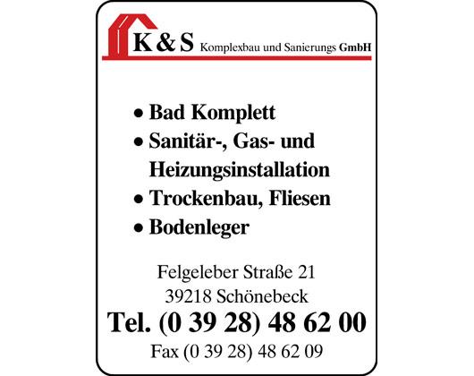 Kundenbild groß 1 K & S Komplexbau und Sanierungsgesellschaft mbH