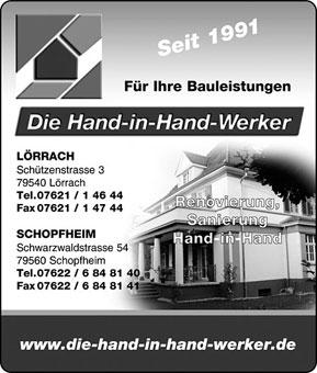 Bild 1 Die Hand-in-Hand-Werker GmbH in Lörrach