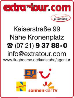 Bild 1 Flugbörse Extratour GmbH Reisebüro in Karlsruhe