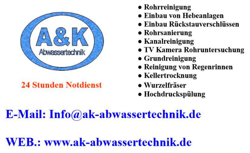 Bild 2 A & K Abwassertechnik in Ludwigshafen