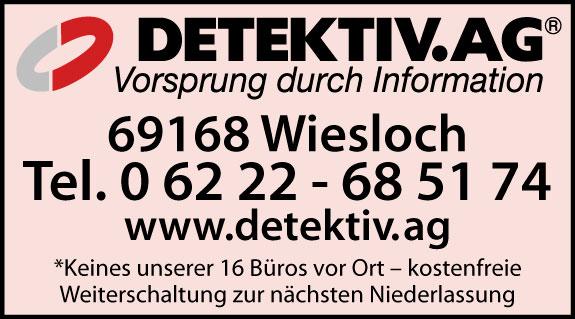 Bild 1 A . M . G . - DETEKTIV AG Wirtschaftsdetektei und Privatdetektei in Wiesloch