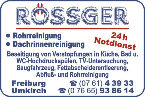 Bild 1 Rössger Rohrreinigung in Umkirch