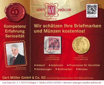 Internationale Briefmarken- und Münzauktionen / Gert Müller GmbH & Co. KG