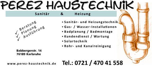 Bild 1 Haustechnik Perez in Karlsruhe