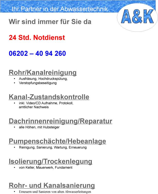 Bild 3 A & K Abwassertechnik in Brühl