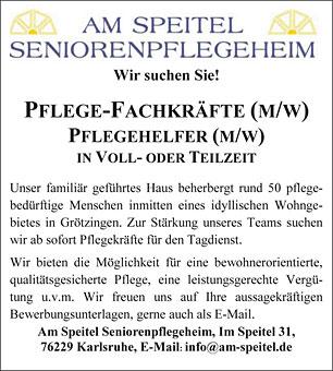 Bild 1 Am Speitel Seniorenpflegeheim Inh. Elke Hofmann in Karlsruhe
