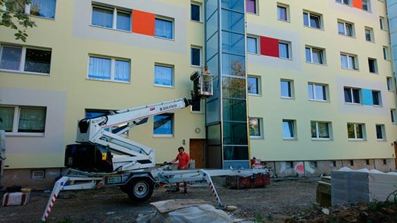 Bild 2 Arbeitsbühnen in Leipzig
